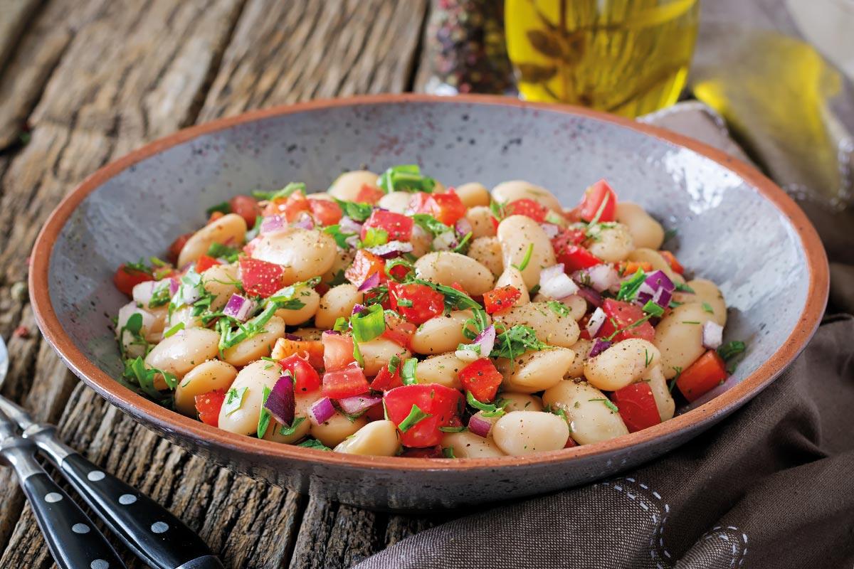 Insalata di fagioli: la ricetta calabrese