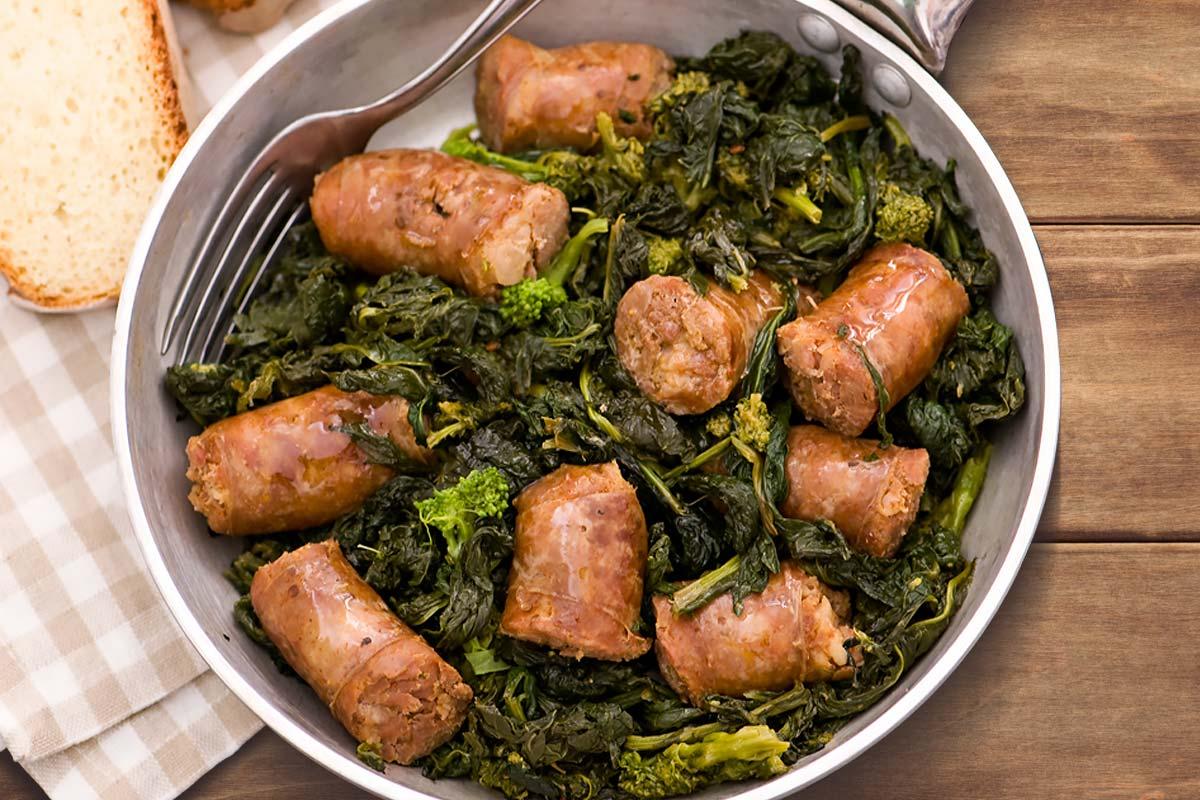Broccoli di rapa e salsiccia: la ricetta calabrese